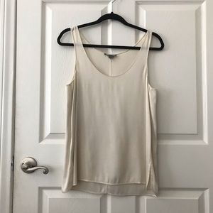 Ivory Vince Silk Sleeveless Top